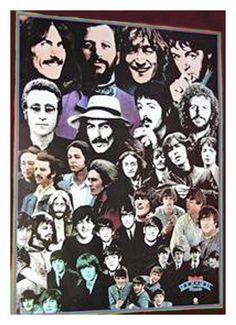 THE BEATLES 1976 Capitol Rock 'N' Roll Music Promo POSTER 18X24 3 Edge Tears