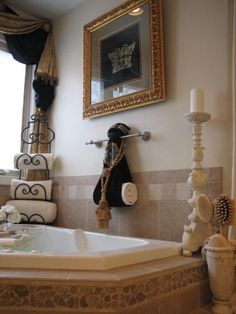Web Photo Gallery Love the towel rack in the corner with an In spa rational View Bathroom Designs Decorating Ideas HGTV Rate My Space