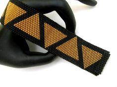 Bracelet Peyote / Egypte Bracelet / Bracelet en Bronze