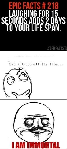 laughing makes you live longer