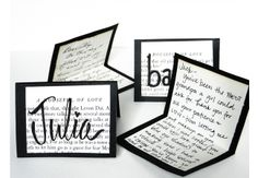 DIY Place Cards from Vintage Book Pages