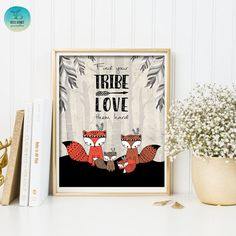 Find Your Tribe. Love Them Hard. Tribal Fox by BlueBunnyPrintables