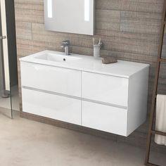 meuble de salle de bains kyoto l 121cm double vasque - Vial Meuble Salle De Bain
