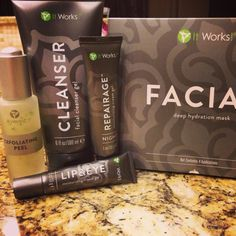 Love IT WORKS skin care line! exfoliating peel is fantastic and the lip and eye cream is the BOMB for morning puffy eyes! :) contact me now 701-214-9183