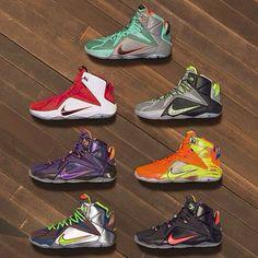 Nike LeBron 12 colorways