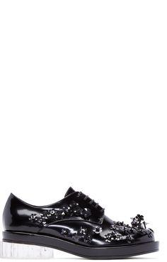 Simone Rocha - Chaussures oxford perlées noires