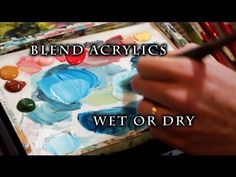 How to blend acrylic paint. This is a very simple video explaining blending with acrylics. :) -Youtube- By: Justin Hillgrove http://youtu.be/d0zuQuH-0F8