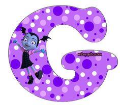 Abecedario de Vampirina Letras para descargar e imprimir gratis | Mi Barquito Halloween Letters, Alphabet Letters Design, Lettering Design, Stencils, Baby Shower, Symbols, Birthday, Party Ideas, Scrappy Quilts