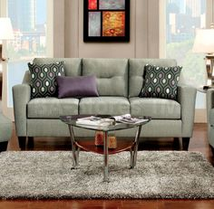 Furniture of America Coltrane Snug Regal Sofa Contemporary Style, Gray - Sears Modern Sofa, Living Room Modern, Easy Home Decor, Cheap Home Decor, Living Room Furniture, Home Furniture, Painting Furniture, Upholstered Furniture, Furniture Ideas