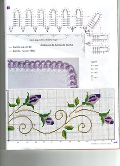 Discover thousands of images about rosas - bordado ponto cruz [] # # # # # # # # # # Cross Stitch Rose, Beaded Cross Stitch, Cross Stitch Borders, Cross Stitch Flowers, Cross Stitch Charts, Cross Stitching, Cross Stitch Embroidery, Blackwork Patterns, Embroidery Patterns