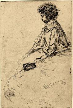 Bibi Lalouette, 1859 - James Whistler.  Art Experience NYC  www.artexperiencenyc.com/social_login/?utm_source=pinterest_medium=pins_content=pinterest_pins_campaign=pinterest_initial