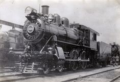 Vintage Steam Train and railroad, unknown date
