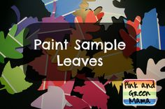 Colorful Fall Craft: Paint Sample Leaves from Pink and Green Mama