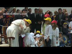 Francisco a niños: La paz se construye todos los días con amor, es un trabajo artesanal