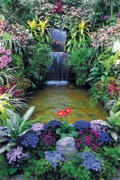 Outdoor Ponds, Ponds Backyard, Backyard Landscaping, Garden Water Fountains, Water Garden, Backyard Sitting Areas, Baumgarten, Chinese Garden, Garden Trees