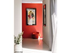 Decoration couloir mur colore