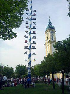 Maypole - Perlach. Bavaria, #Bavaria #Germany #Beer