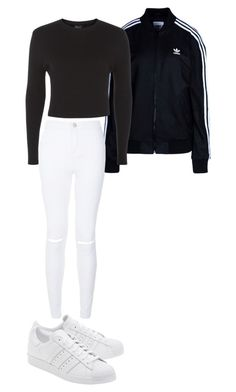 """""""Outfit for Friday xxxx"""" by eviewilkinson2002 on Polyvore featuring adidas Originals and New Look"""