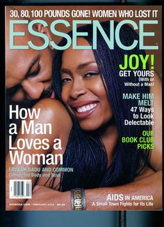 Black Love on ESSENCE Covers Through the Years; Erykah Badu and Common In 2003 everyone was rooting for Erykah Badu and Common's love to last, us included. The then-couple graced our February cover that year with this adorable shot.