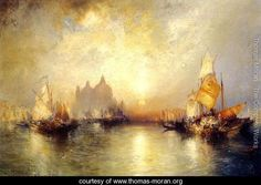 Entrance To The Grand Canal  Venice - Thomas Moran - www.thomas-moran.org