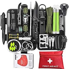 Survival First Aid Kit, Emergency First Aid Kit, Emergency Survival Kit, Survival Gadgets, Survival Tools, Cool Survival Gear, Survival Knife, Survival Backpack, Wilderness Survival