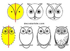 How to draw an owl.