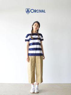 【楽天市場】ORCIVAL オーシバル/オーチバル 40/2 6.5×6.5STRIPE/ワイドボーダー ショートスリーブTシャツ・rc-6829 6.5×6.5STRIPE【2016春夏】:Crouka(クローカ)