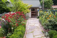 Flagstone with edging