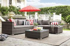 Malibu Outdoor Corner Chaise Lounge Setting
