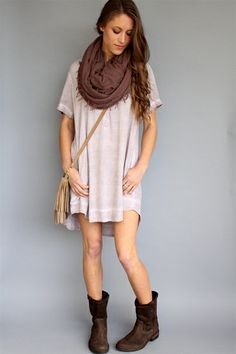 We're obsessed with this Bella Dahl Desert Pearl High Low Pullover Dress! Need it now. #spring #dress #belladahl