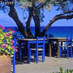 Empty Seaside Taverna In Zante Greece