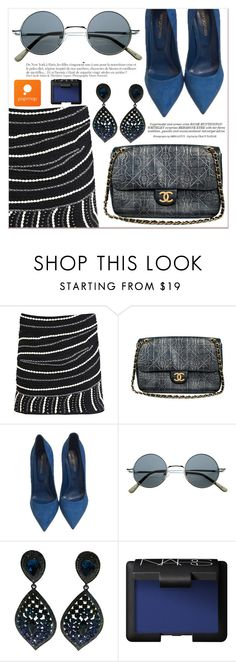 """""""# III/31 Popmap"""" by lucky-1990 ❤ liked on Polyvore featuring Chanel, Sergio Rossi, Whiteley, Anja, NARS Cosmetics and popmap"""