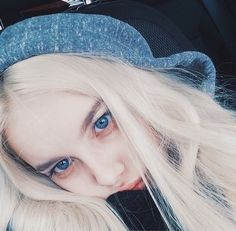 lenyhkaa - Care - Skin care , beauty ideas and skin care tips Silver Blonde, Blonde Hair Blue Eyes, Eye Color, Hair Color, Alone Time Quotes, Peinados Pin Up, Fairy Tail Couples, Girl Inspiration, Tumblr Girls