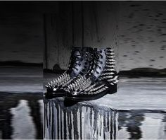 All over gothic fierce metal studded real leather boots boots 4
