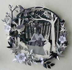 lovely papercut woodland scene.