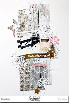 winter scrapbook idea