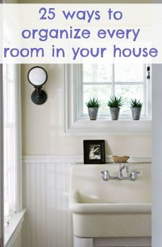 25 ways to organize every room in your house - plus a link to quick cleaning your kitchen Organization Station, Home Organisation, Household Organization, Life Organization, Organize Your Life, Organizing Your Home, Organising, Organizing Ideas, Flylady