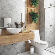 Banheiro cinza: 70 inspirações que vão ganhar o seu coração Rustic Bathroom Designs, Best Bathroom Designs, Bathroom Design Luxury, Rustic Bathrooms, Interior Design Kitchen, Small Bathroom, Small Toilet, Amazing Bathrooms, Bathroom Inspiration