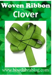 EASY DIY Woven Ribbon Clover perfect for St. Patrick's Day.