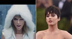 "Pin for Later: Here Are All the Possible Katy Perry Digs in Taylor Swift's ""Bad Blood"" Music Video Taylor is dressed in white."