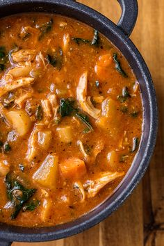 Hearty Italian Chicken and Autumn Veggie Soup | thecozyapron.com
