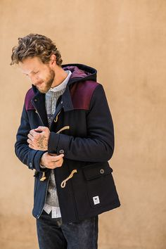This is not your average peacoat... Stand out in the Bellfield Nobel coat.