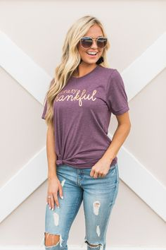 6543c01d3 ... All The Things, Fall Leaves, Festival Shirts, Shirt Ideas. Katie  Douglas · Christmas list James · This adorable graphic tee is a must-have  for ladies ...