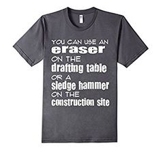Amazon.com: Awesome Drafting Table Architect T Shirt: Clothing