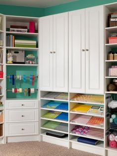 Find creative inspiration in your #organization! #MasterSuite #CraftRoomInspo #CraftRoom