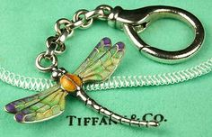TIFFANY DESIGN IS TRULY TIMELESS: TIFFANY Dragonfly Keychain Enameled Vintage Style in DragonHorse Studio via #ebay  http://r.ebay.com/L5ramw #designer #tiffany #vintage
