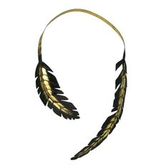 Audubon Gold-tipped Feather Necklace