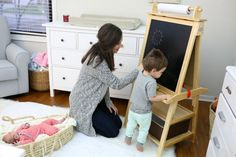 Art Easel, Quality Time, Art For Kids, Toddler Bed, Kids Rugs, Furniture, Twitter, Artist, Home Decor