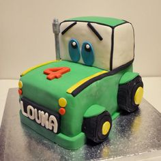 Gâteau Tracteur ! ©Une Fille en Cuisine Tractor Cakes, Tractor Birthday, Birthday Cakes For Men, Creative Cakes, Tractors, Cake Decorating, Birthdays, Cupcakes, Desserts