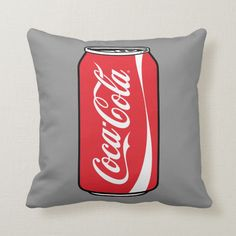 Coca-Cola Can of Coke Throw Pillow , Coca Cola Gifts, Coca Cola Shop, Coca Cola Can, Pepsi, Coca Cola Merchandise, Birthday Bbq, Refreshing Summer Drinks, Coke Cans, White Elephant Gifts